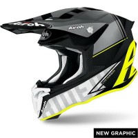 Casco da Motocross Enduro Motard Airoh TWIST Yellow Matt Tech Modello 2021 Tg M