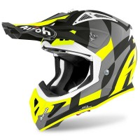 Casco da Motocross Enduro Motard Airoh Aviator Ace TRICK 2021 YELLOW MATT TG L