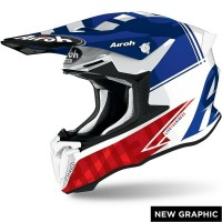 Casco da Motocross Enduro Motard Airoh TWIST BlueGloss Tech New Model 2021 Tg.XL