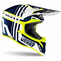 Airoh WRAAP BROKEN BLUE GLOSS 2020 Tg L casco Helmet da Motocross Enduro Motard