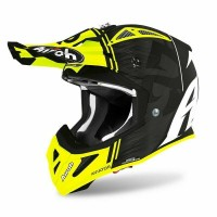 Airoh Aviator Ace Kybon YELLOW MATT 2020 Tag. S casco da Motocross Enduro Motard